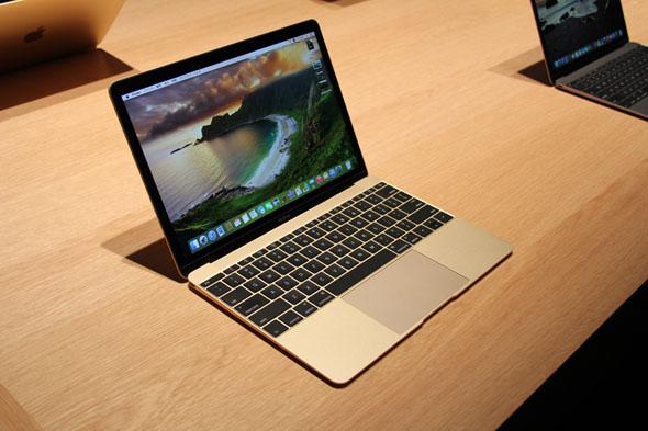 見てきました。新Mac Book。